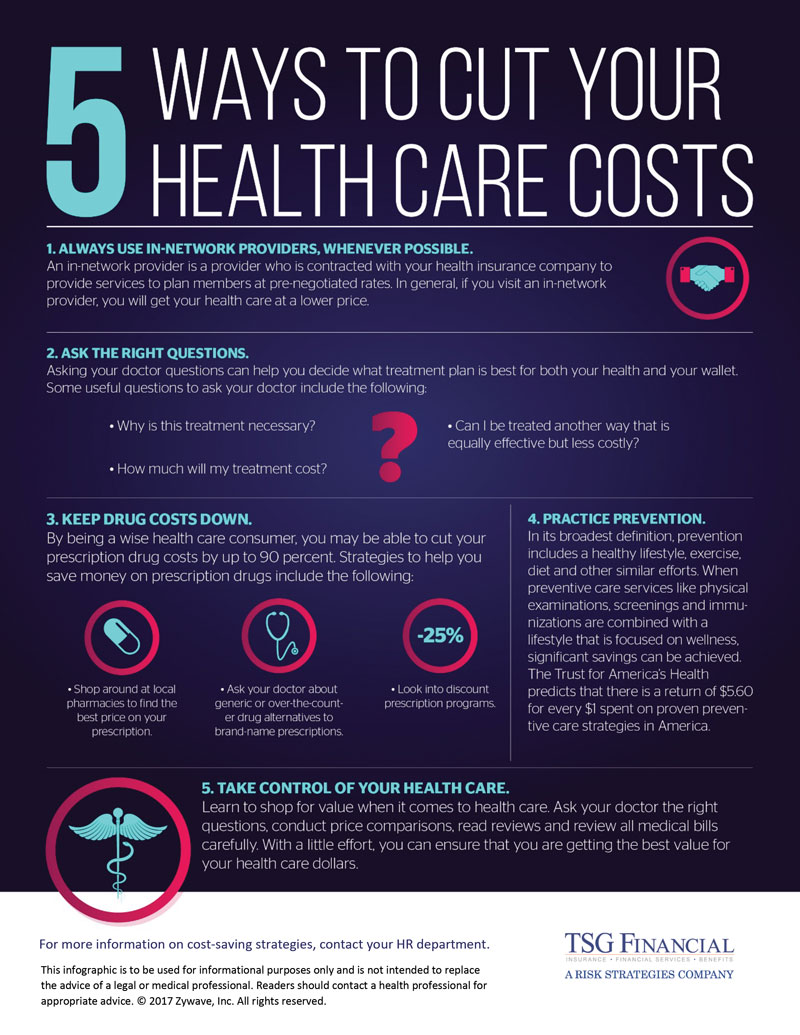 Contact us to learn more ways to save money on health care.